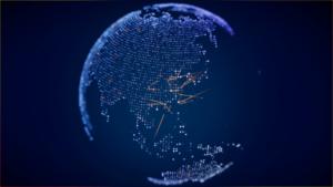 亚洲地图蓝色